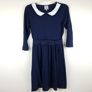HI THERE Karen Walker Josie Navy Sweater Dress XS